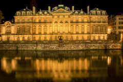 Rohan Palace from Strasbourg and its water reflection Stock Images