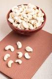 Rohe Acajounüsse für vegetarisches Lebensmittel Stockfoto