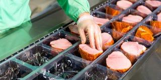 Rohe Fleischproduktion Stockfotografie