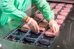 Rohe Fleischproduktion Lizenzfreie Stockfotos