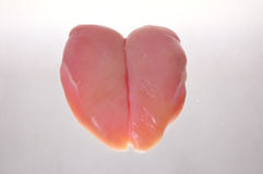 Rohe Hühnchenbrust Stockfoto