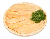 Rohe Hühnerbrust lizenzfreies stockfoto