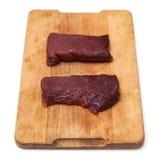 Rohe Kamel-Steaks Lizenzfreie Stockfotografie