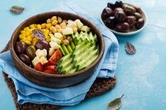 Rohe Lebensmitteldiät oder sauberes Essenkonzept Stockbild