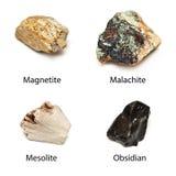 Rohe Mineralien Lizenzfreie Stockfotos