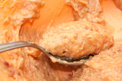 Rohe Mischung für die Herstellung von Fleischklöschen Lizenzfreies Stockbild