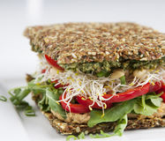 Rohe Nahrung - Sandwich Lizenzfreie Stockfotos