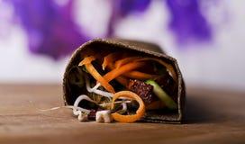 Rohe Nahrungsmittelverpackung Stockbild