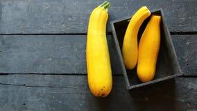 Rohe organische gelbe Zucchini stock video footage