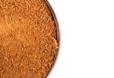 Rohe organische Kokosnuss zuckern eine gesunde Alternative zum Tabellen-Zucker stockbild