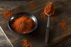 Rohe organische rote Paprika Spice Stockbild