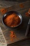 Rohe organische rote Paprika Spice Lizenzfreie Stockfotos
