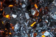 Rohe Pyritkristalle Stockfoto