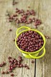 Rohe rote Bohnen Stockfotos