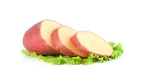 Rohe rote Kartoffeln Lizenzfreies Stockfoto