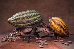 Rohe Schokolade stockfoto