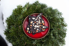 Rohe Schokolade des strengen Vegetariers Lizenzfreie Stockbilder