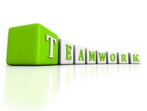 Rohe Struktur der Konzept TEAMWORK-Wortblöcke auf weißem Hintergrund Lizenzfreies Stockfoto