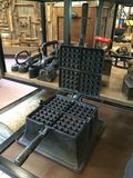 Roheisen-Waffelhersteller Stockbild
