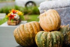Roher Halloween-Kürbis Stockfotos