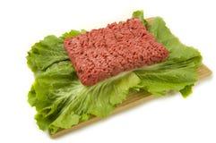 Roher Hamburger Lizenzfreies Stockfoto