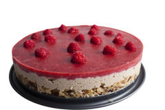 Roher Kuchen Weißer Hintergrund Lizenzfreies Stockbild