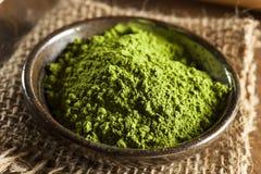 Roher organischer grüner Matcha-Tee stockfotos