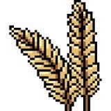 Roher Reis der Vektorpixel-Kunst Stock Abbildung
