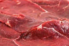 Roher Rindfleischabschluß oben Stockfotografie