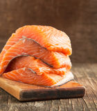 Roher Salmon Fillet Stockbild