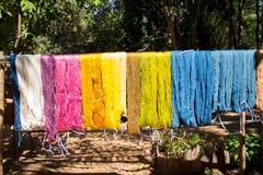 Roher silk Thread der Seidenraupe Stockfoto