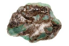 Roher Smaragd stockbild