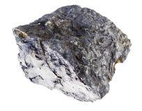 roher Stein der bitumenhaltigen Steinkohle auf Weiß lizenzfreies stockbild