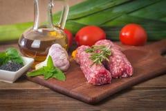 Roher türkischer traditioneller Fleisch-Kebab Lizenzfreie Stockfotografie