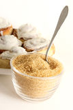 Roher Zucker und Backen Stockbild