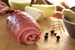 Rohes Beefsteak Stockbild