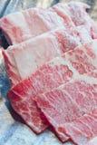 Rohes Fleisch der Scheibe Stockbilder