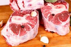 Rohes Fleisch mit Gewürzen Lizenzfreie Stockfotografie