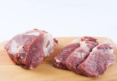Rohes Fleisch, Stutzenschulter Lizenzfreie Stockbilder