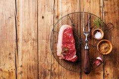 Rohes Frischfleisch von New- Yorksteak Stockfotografie