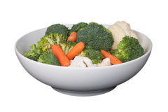 Rohes Gemüse in einer Schüssel (Ausschnittspfad eingeschlossen) Lizenzfreies Stockfoto