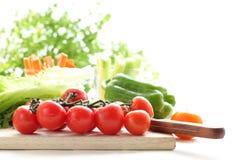 Rohes Gemüse mit Morgentageslicht Stockbild