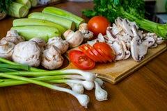 Rohes Gemüse und Pilze Lizenzfreie Stockfotografie