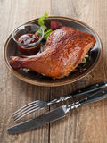 Rohes geschnittenes Huhn Stockfoto