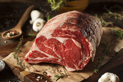Rohes Gras Fed Prime Rib Meat stockfoto