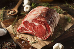 Rohes Gras Fed Prime Rib Meat lizenzfreies stockbild