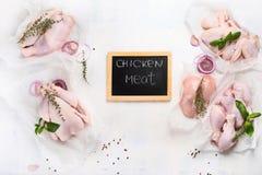 Rohes Huhnfleisch Stockfoto