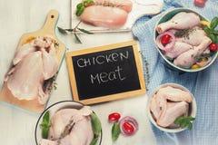 Rohes Huhnfleisch stockfotografie