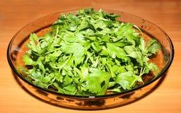 Rohes Lebensmittel der Petersilie Stockfoto