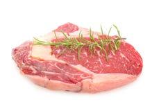 Rohes Mittelrippe vom Rind-Steak Lizenzfreies Stockbild